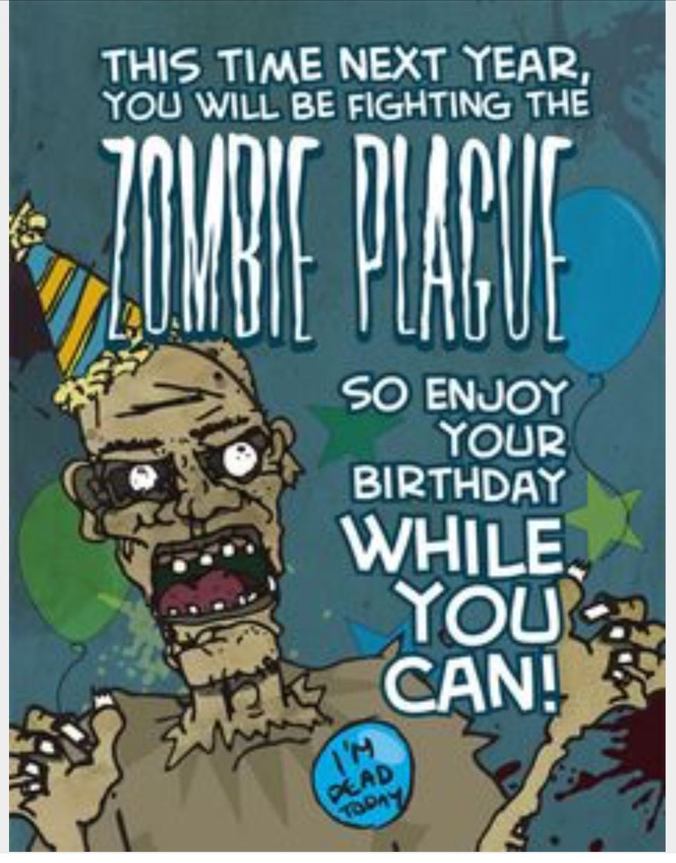 Pin by k w on birthday wishes pinterest birthdays zombie plague birthday card with envelope kristyandbryce Choice Image