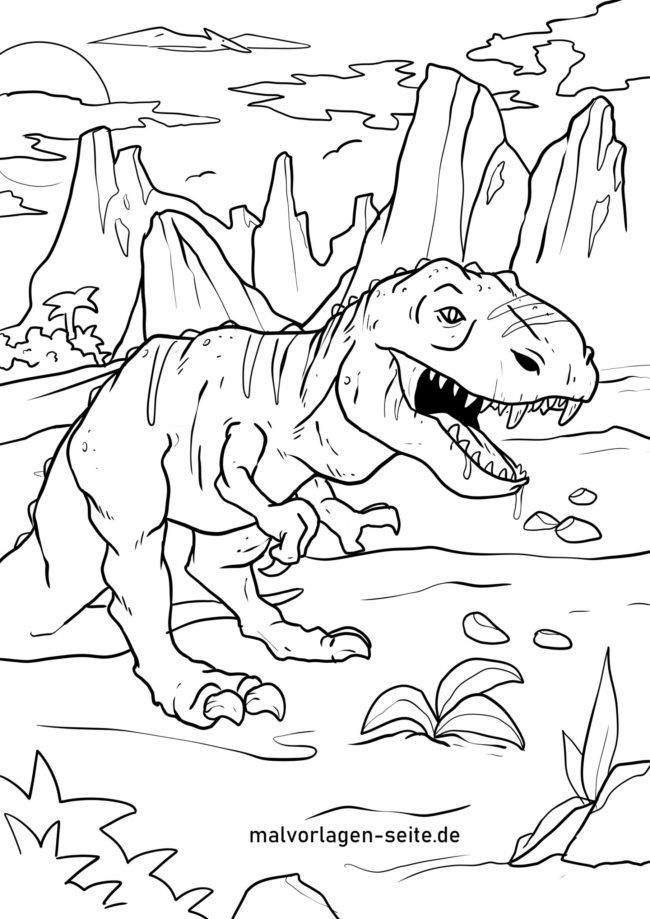 malvorlage tyrannosaurus rex  dinosaurier in 2020