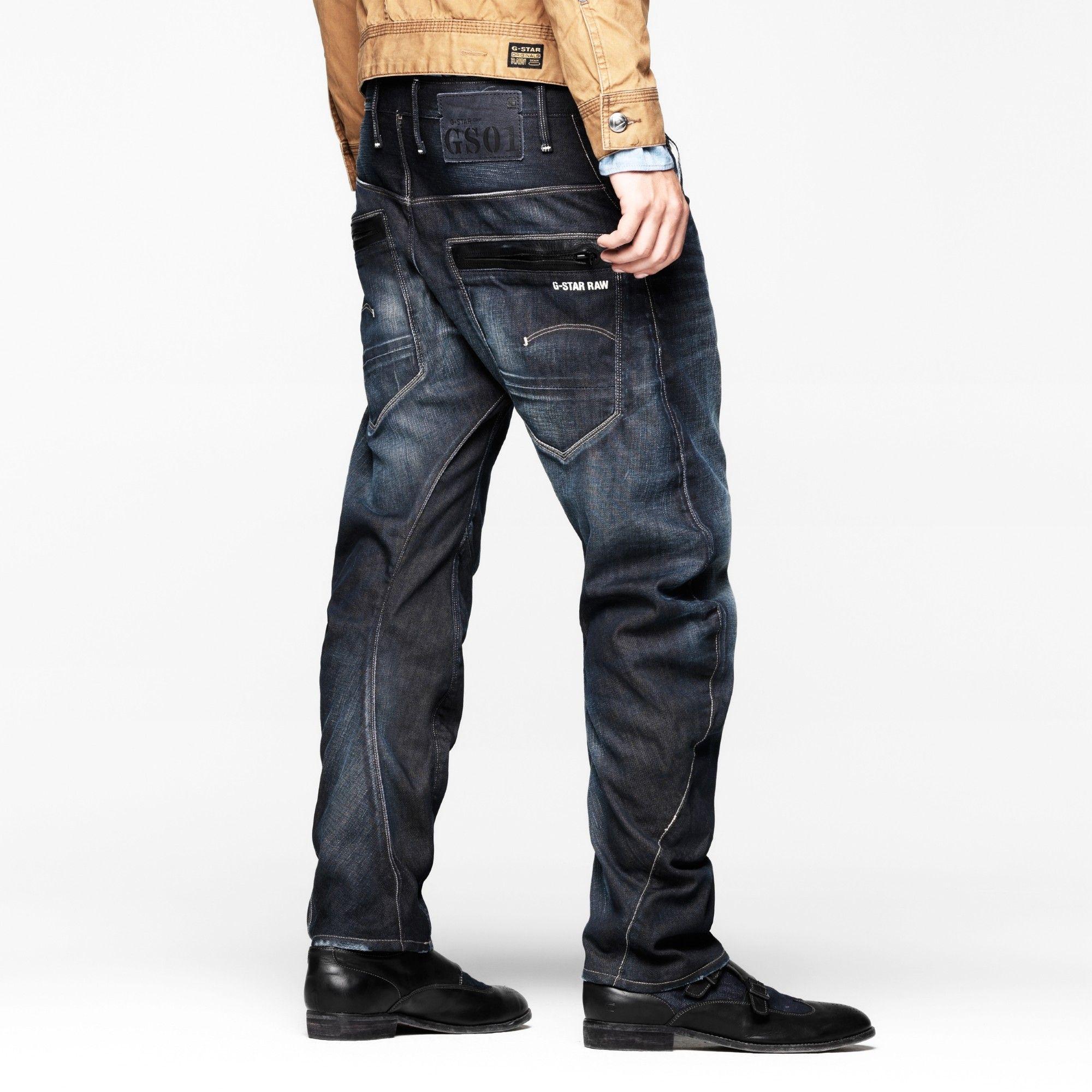 G-Star RAW New Radar Mens Slim Jeans Mens Jeans Buy Jeans for Men COLOUR-light aged
