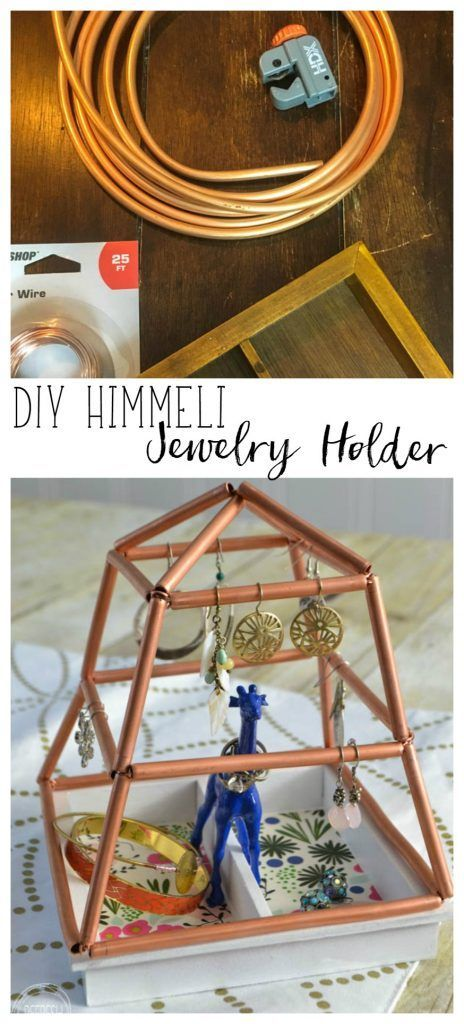 DIY Jewelry Holder with Copper Himmeli and Thrift Store Finds -  #copper #DIY #finds #himmeli... #thriftstorefinds
