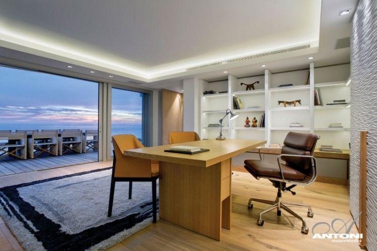 Home Office Einrichtung und LED Beleuchtung bini Pinterest - einrichtung im industriellen wohnstil ideen loftartiges ambiente