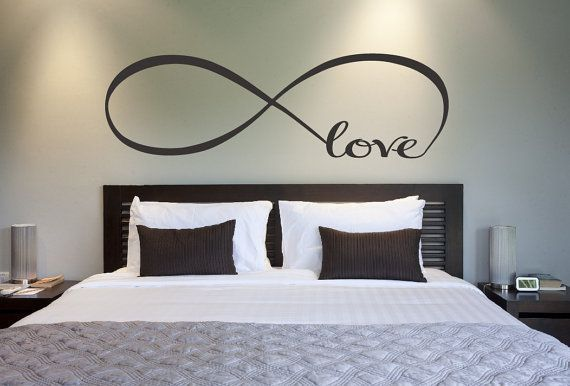 LOVE INFINITY VINYL WALL DECAL LETTERING QUOTE BEDROOM HOME DECOR