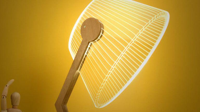 L'illusione ottica delle lampade 2D Lampade, Design