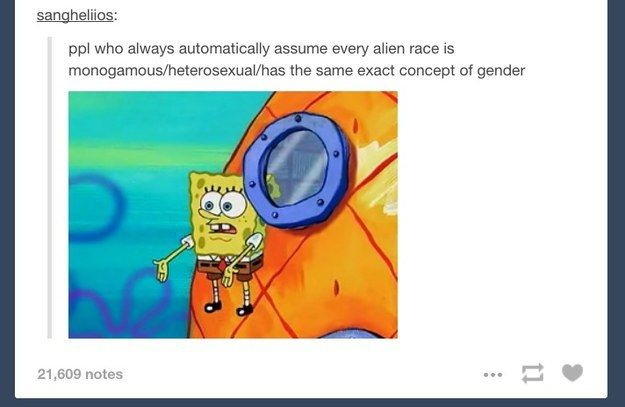 And Spongebob once again illustrated all our frustrations: | 22 Times Tumblr Made You Check Your Gender Expectations At The Door