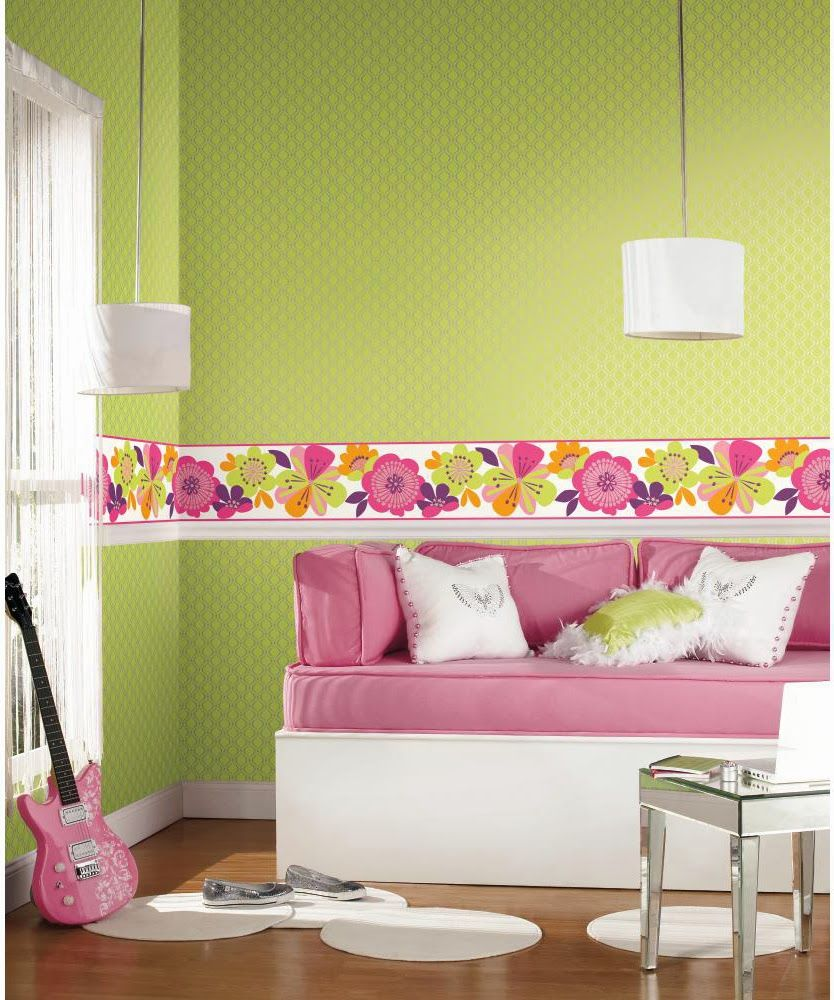 Cool Kids Wallpaper and Border Girls room wallpaper