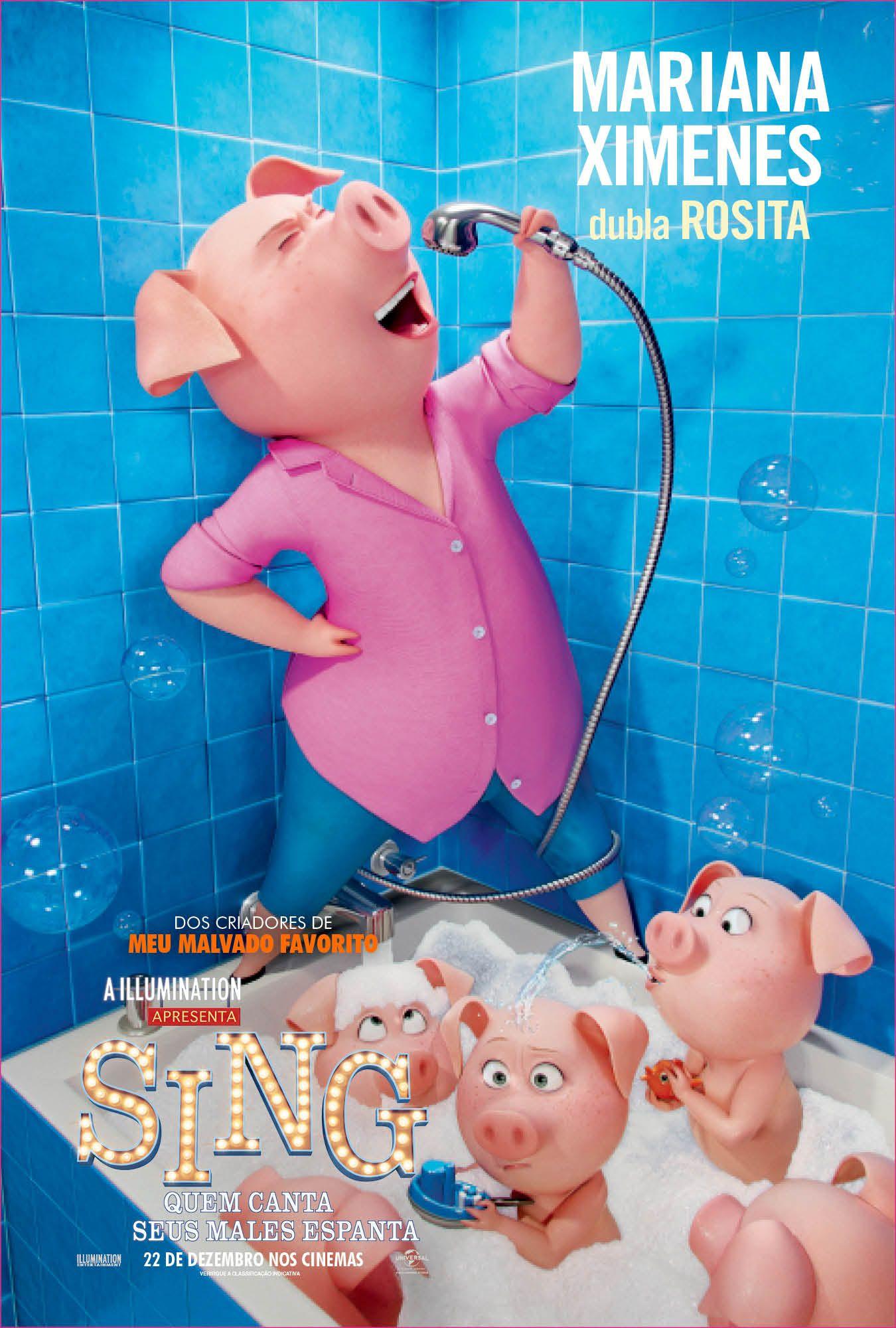 Mariana Ximenes Dubla Rosita Em Sing Quem Canta Seus Males Espanta 22 De Dezembro Nos Cinemas Filmes Pixar Capas De Filmes Netflix Filmes E Series