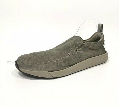 (eBay Advertisement) SANUK CHIBA QUEST MEN'S SLIP-ON SNEAKERS WASHED GREY CANVAS -US 13 -NEW
