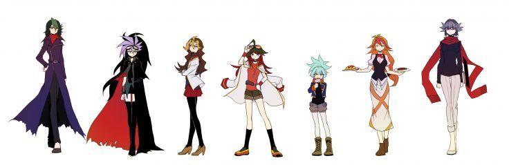 Yu-Gi-Oh! ARC-V Sakaki Yuya The Dark Duelist Sawatari Shingo Mokota Michio wallpaper background