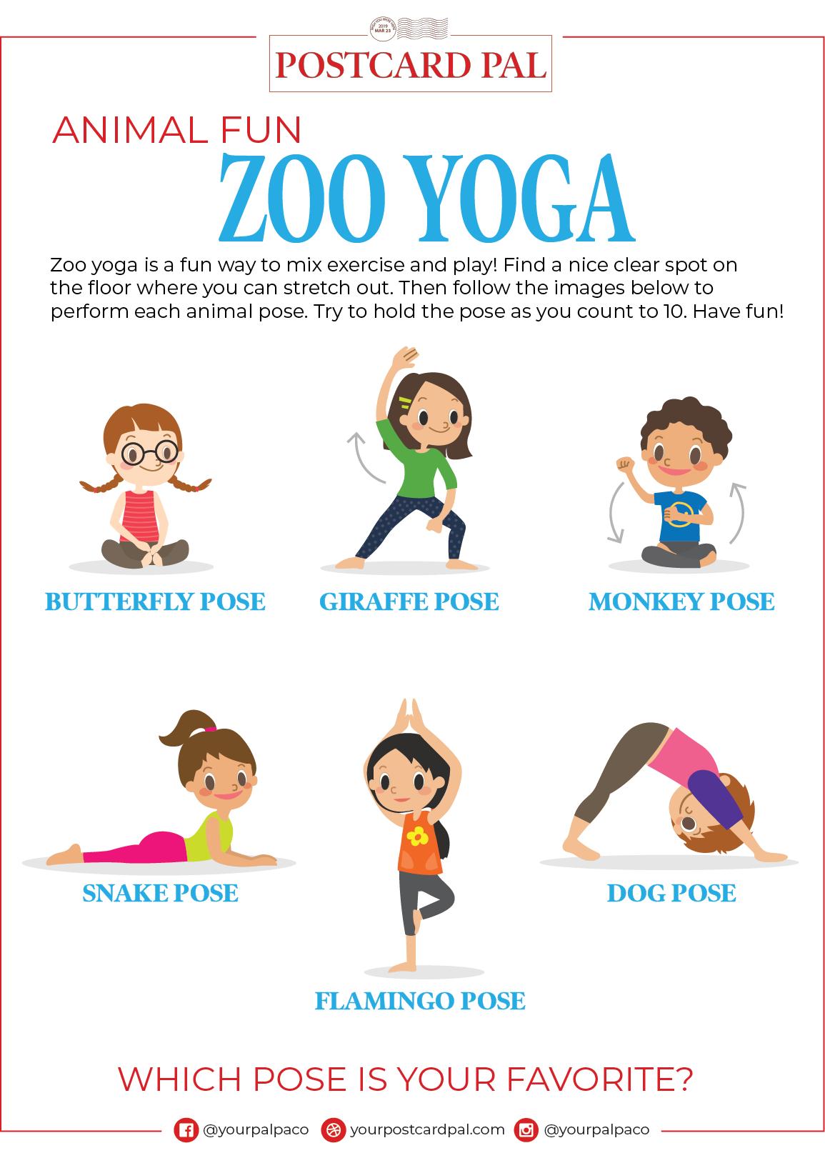 Kids Animal Yoga Poses