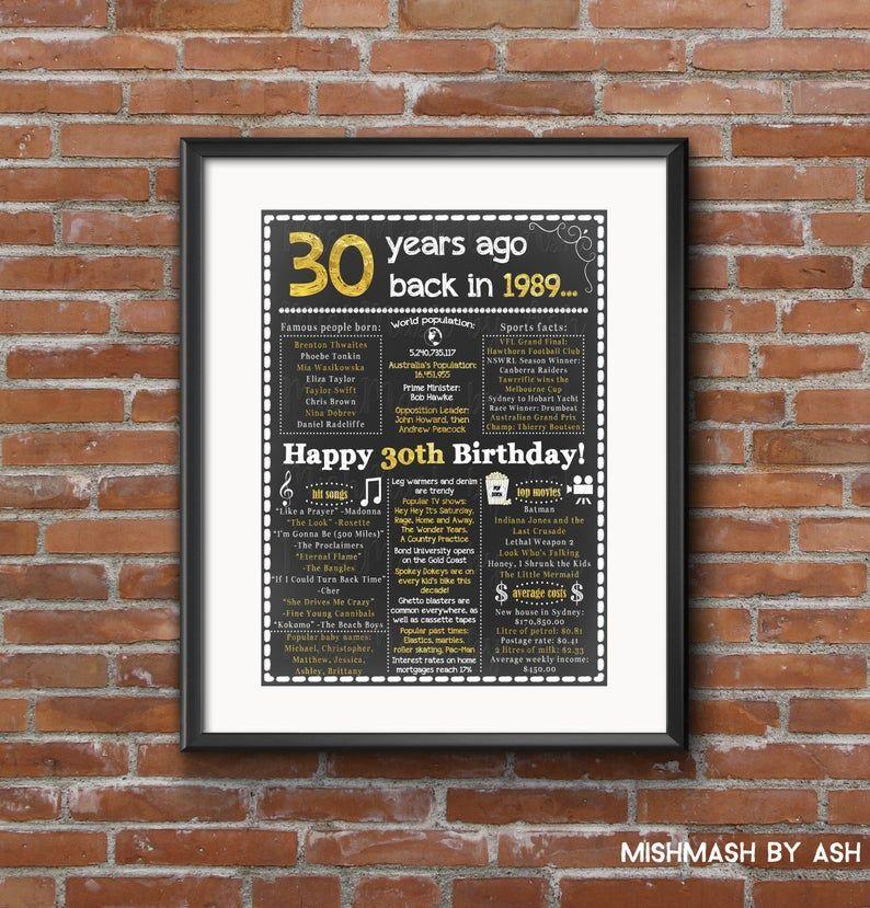 30th birthday decorations 30th birthday for him 30th