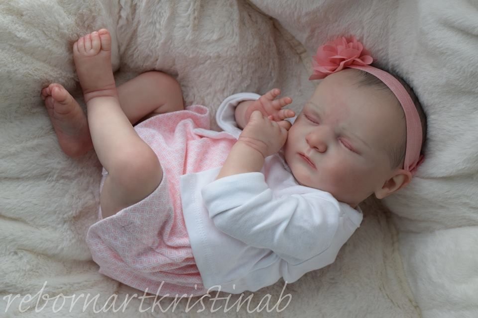 Adorable Sleeping Reborn Baby Girl 'Scarlett' by Bonnie Brown