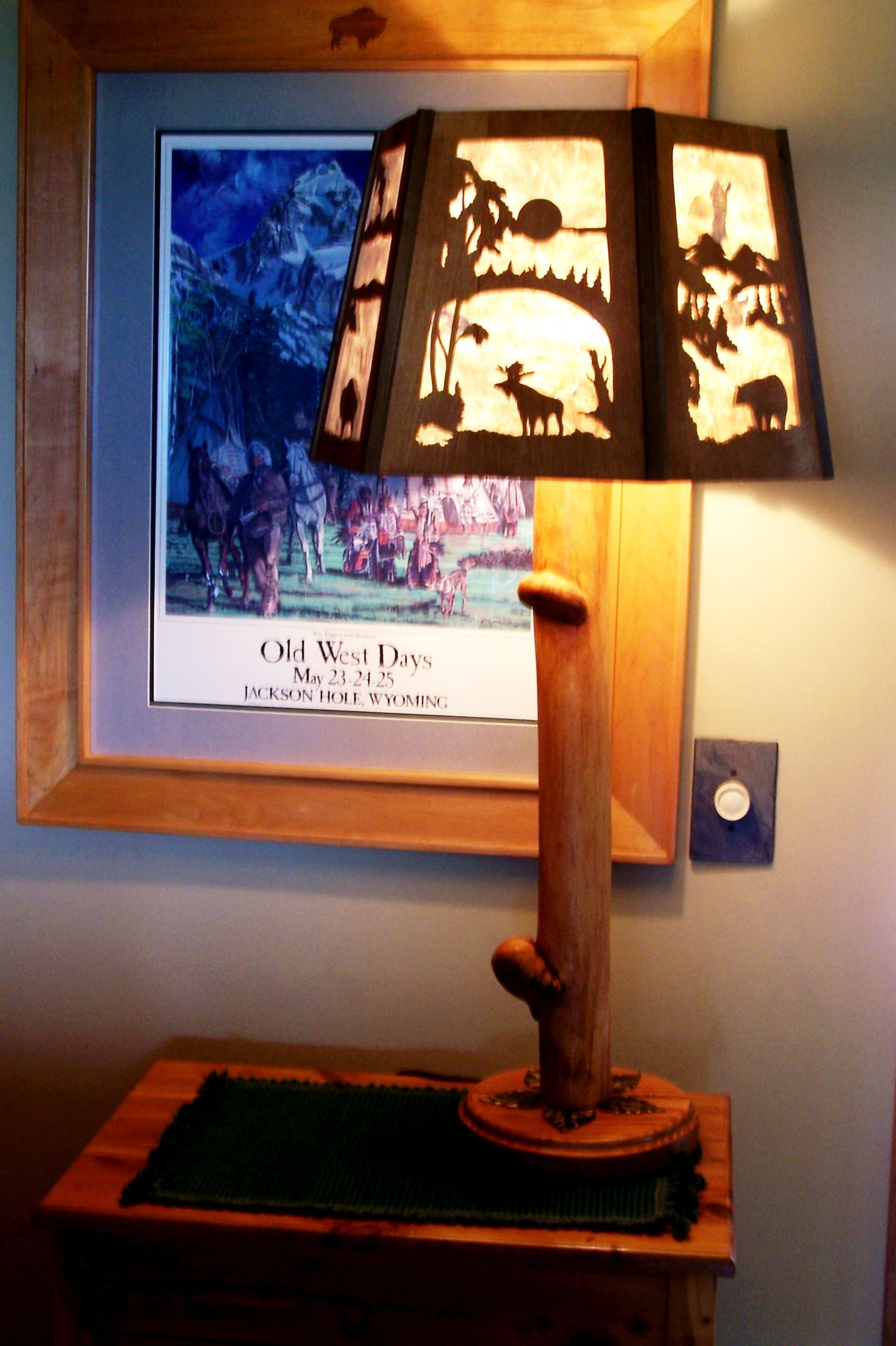 Keller Lampen Rustic Lamp With Hand Cut Shade By Steve Blood Steve Blood