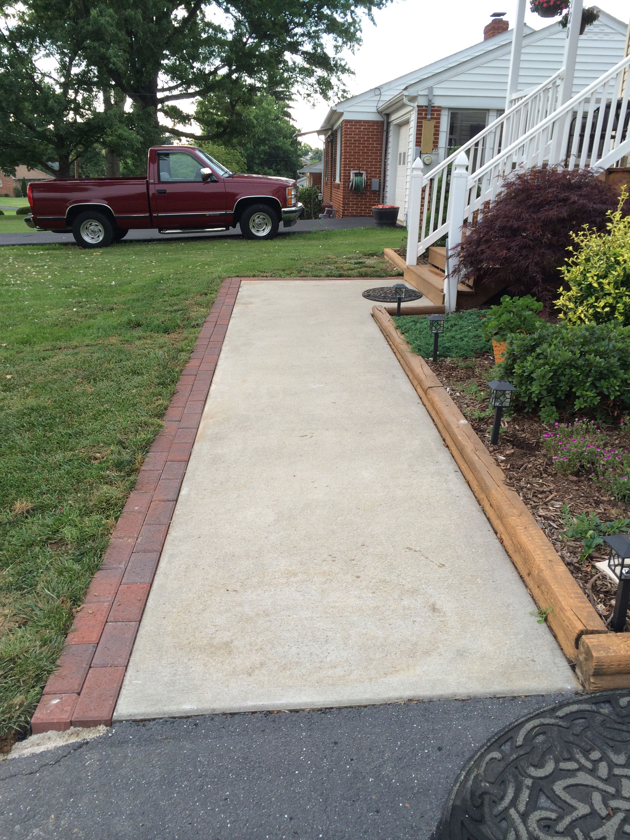 brick paver border along sidewalk diy projects pinterest