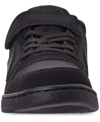 0ee8691a0e70 Nike Little Boys  Court Borough Low Casual Sneakers from Finish Line -  Black 2.5