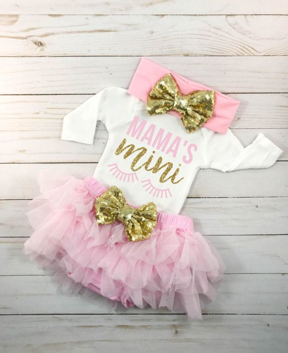 Baby Shower Gift Baby Girl Pink Flamingo Coming Home Outfit Birthday Outfit Fall Cute Outfit Personalized Gift Newborn for Photoshoot