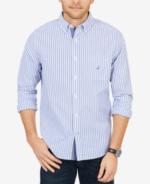 Nautica Long Sleeve Vertical Stripe Button Down Shirt
