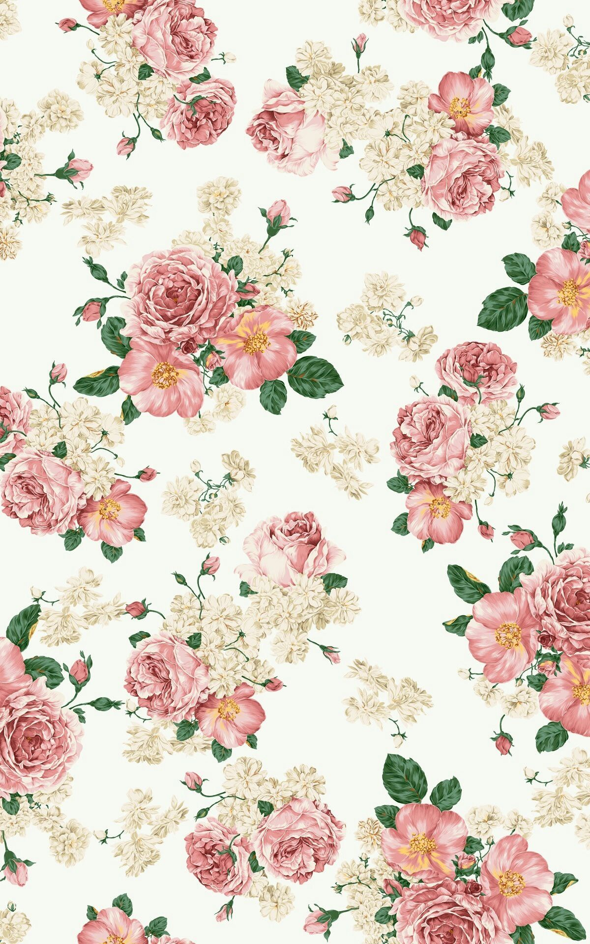 Flower Lock Screen Floral Wallpaper Iphone Vintage Flowers Wallpaper Floral Wallpaper