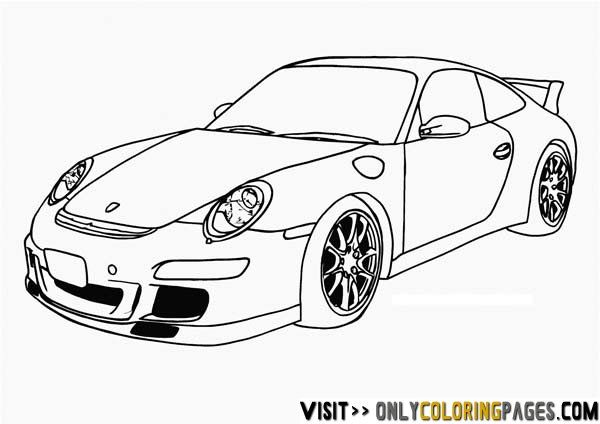 porsche coloring pages | adult coloring | Pinterest | Coloring pages ...