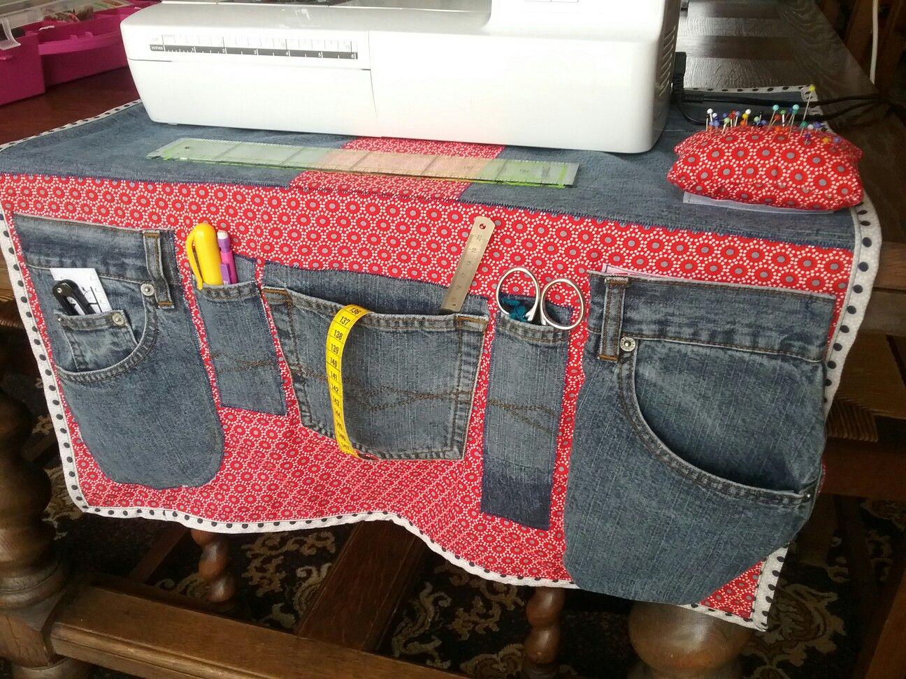 vieux jeans housse machine a coudre