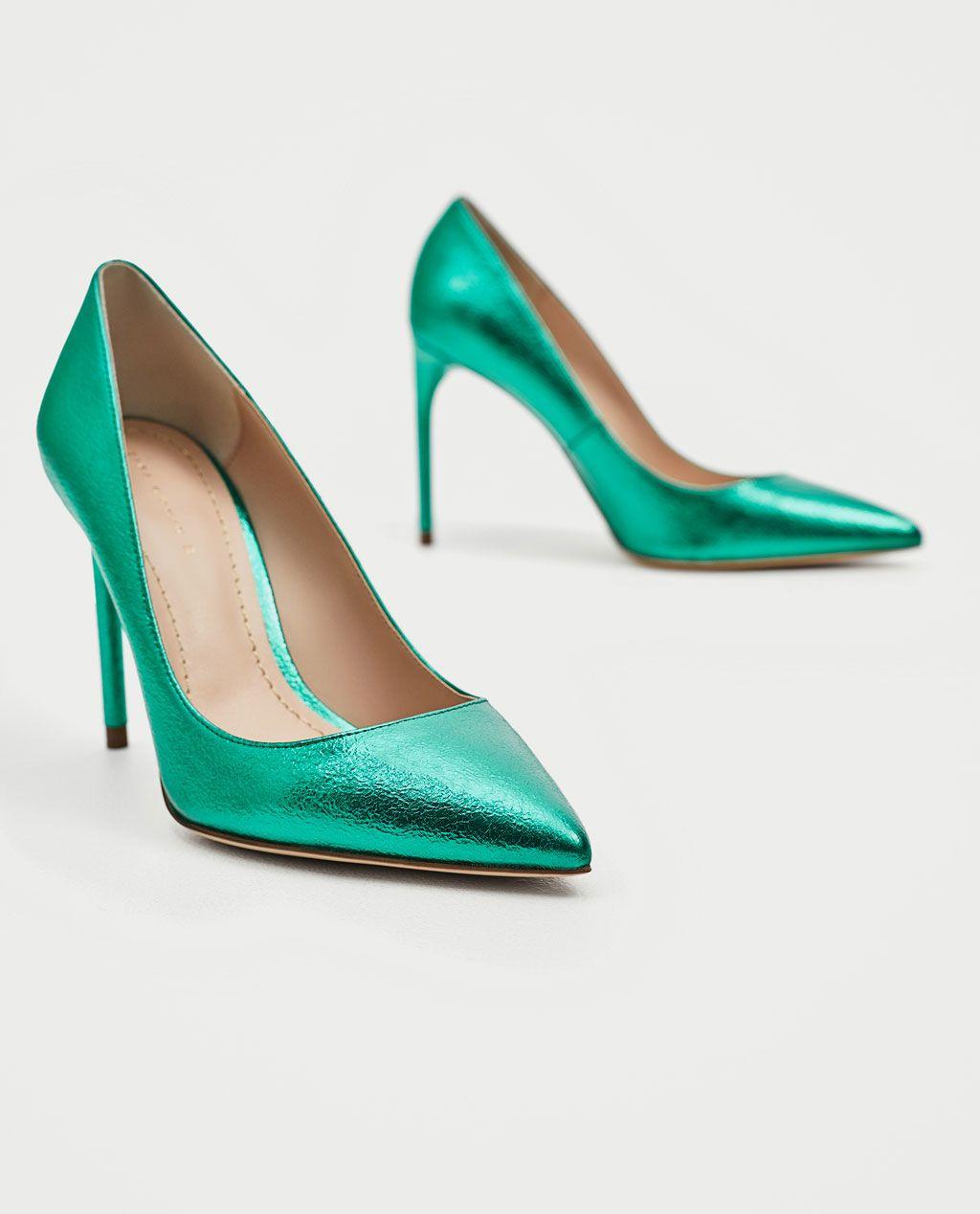 Green court shoes, Heels, Shoes women heels