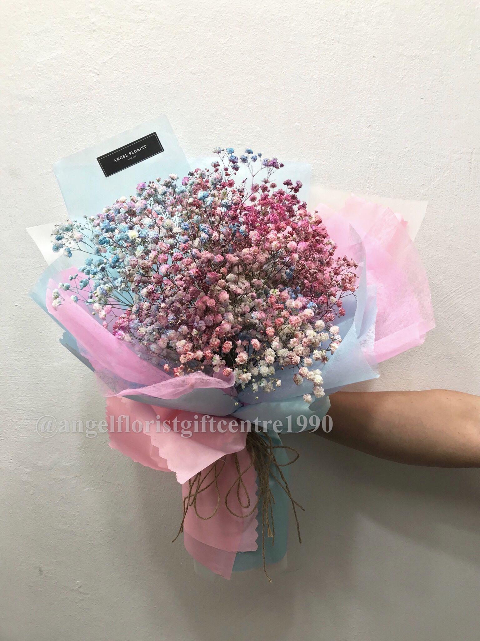 Ah38 Rm 200 S Rm 500 M Rm 1000 L Dream Color Baby Breath Bouquet Korea Style Floristshop Flowershop Kedaibunga 小天使花屋 Angelfl Bouquet Flowers
