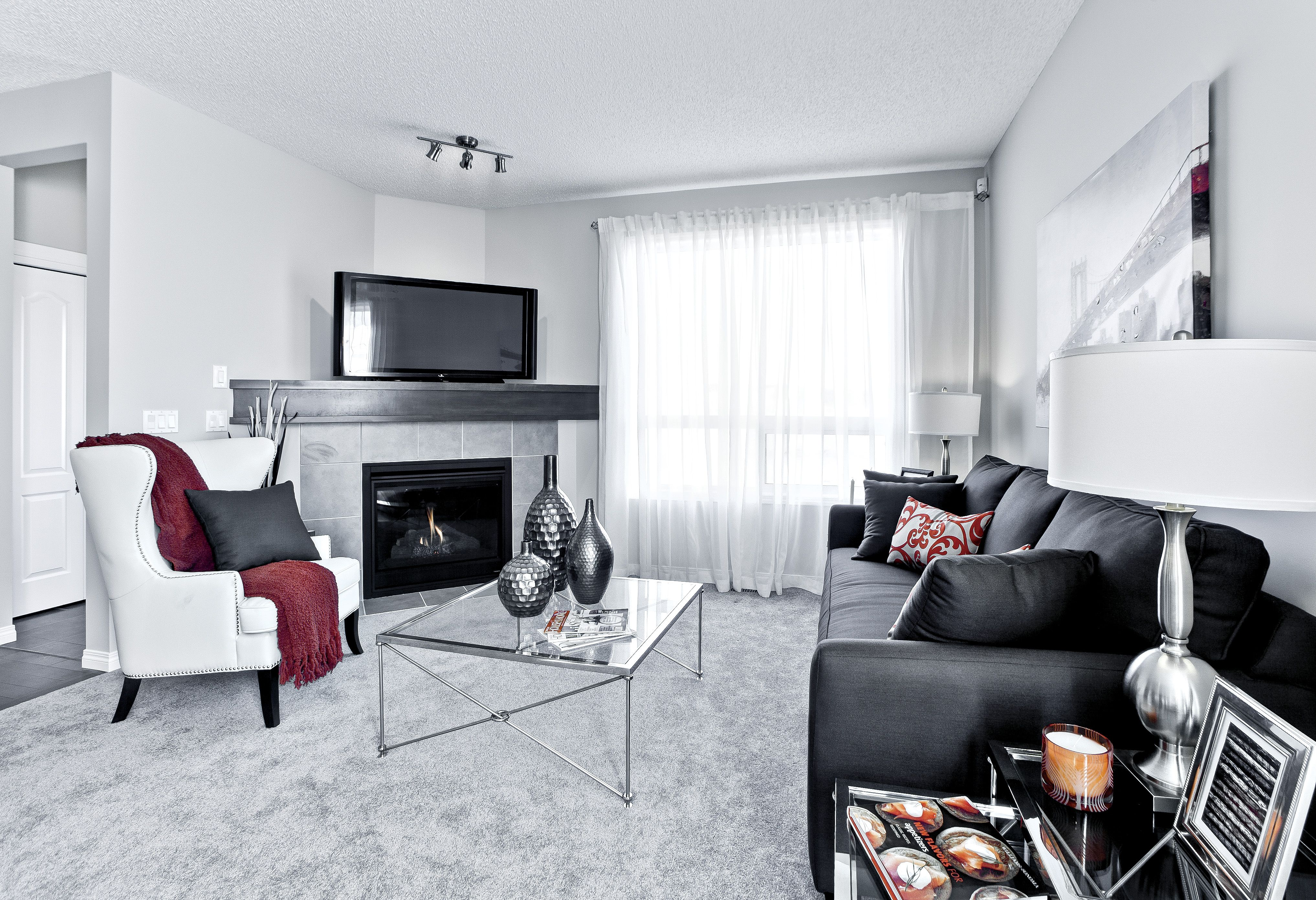 Family room / living room with corner fireplace | My future life ...