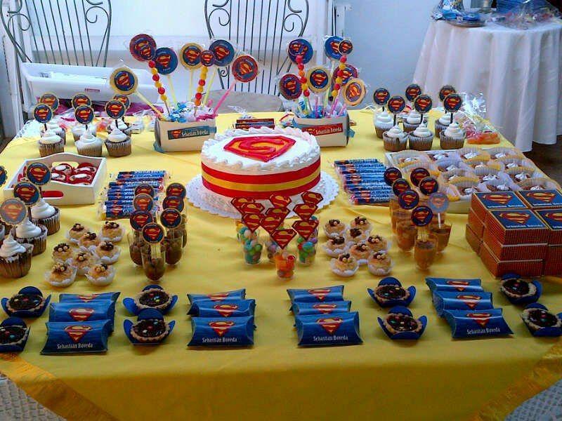 Tema superman mesa de dulces cumple infantil mesas - Mesa dulce infantil ...