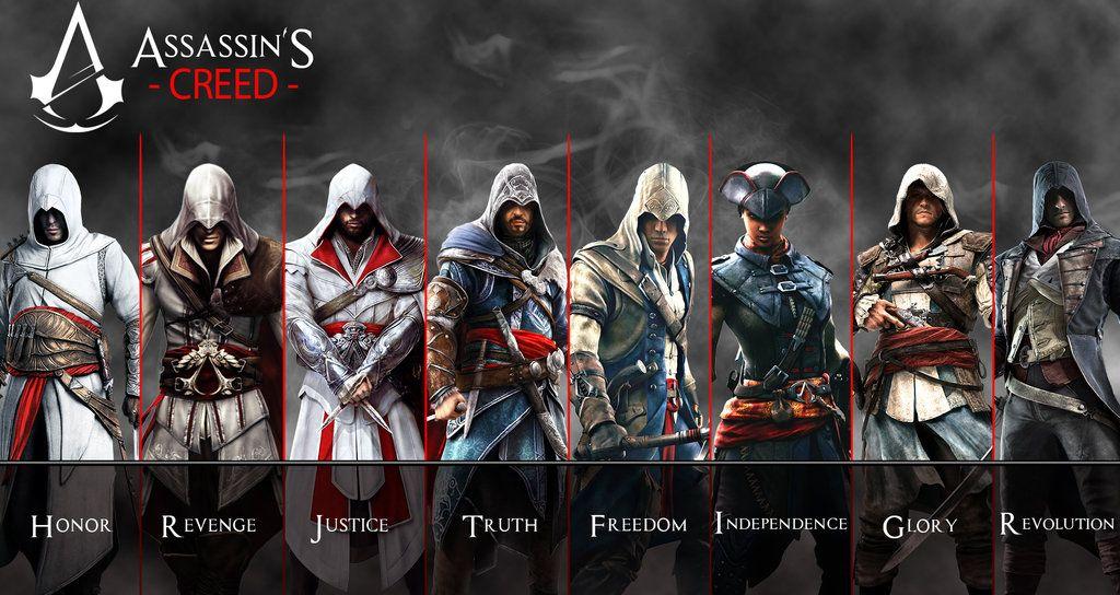 Altair To Arno Assassins Creed Revolution By AkNiazideviantart On DeviantArt