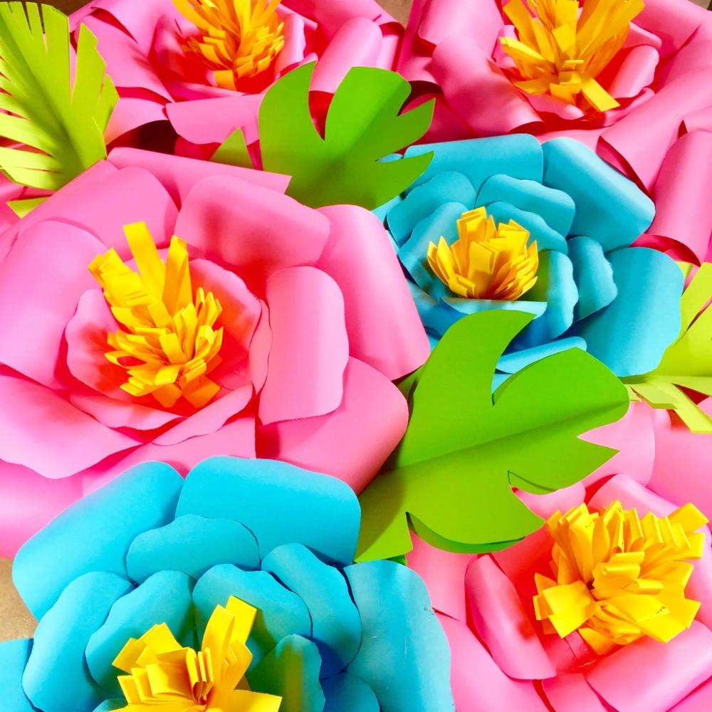 Giant Paper Flowers #giantpaperflowers