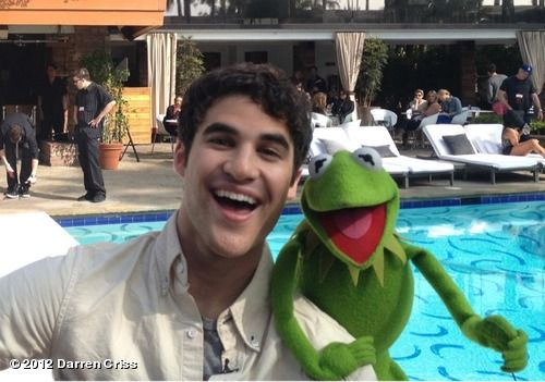 "Darren Criss' photo ""At rehearsal with Kermit. And..."" on WhoSay"