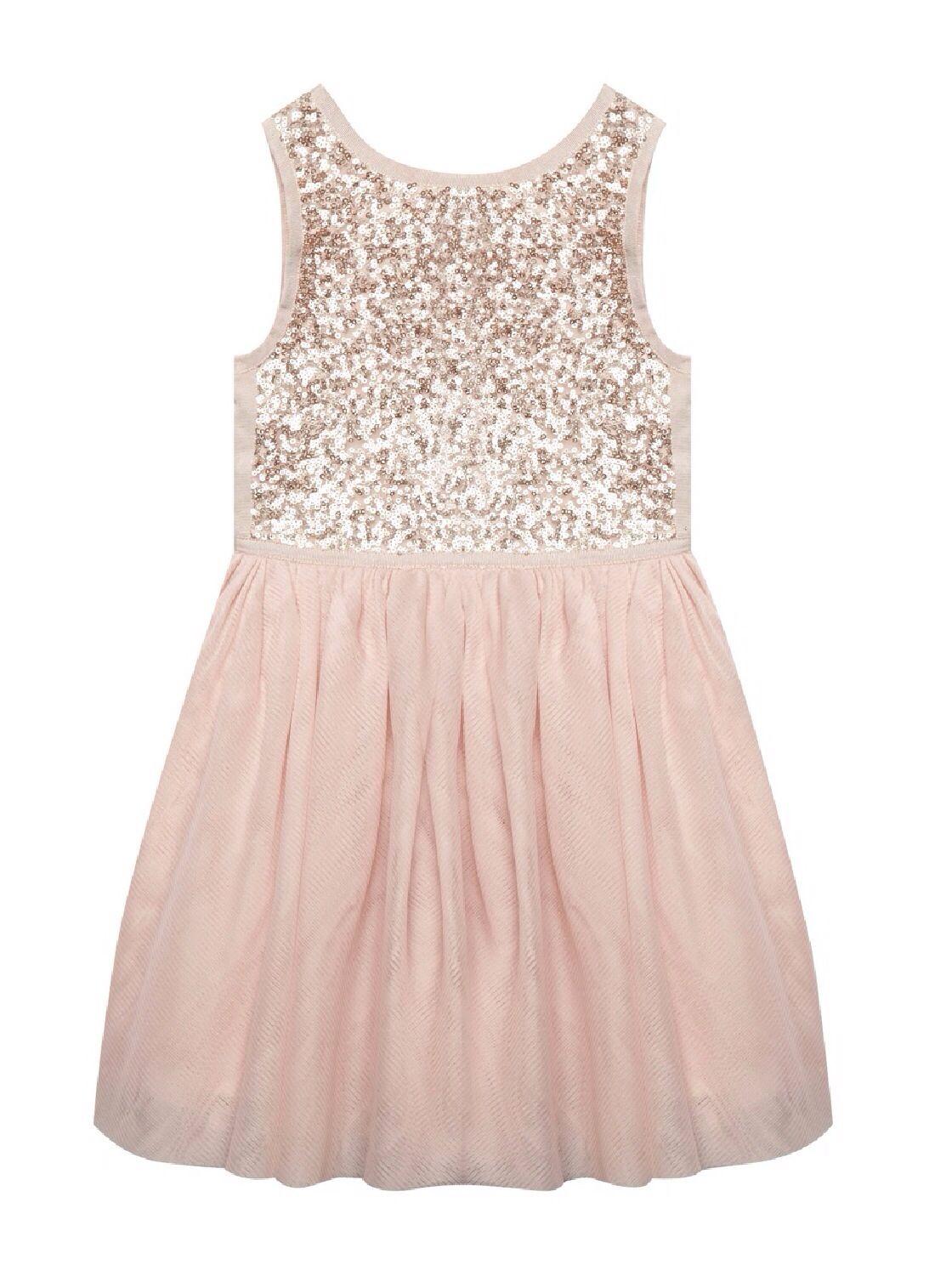 Pink Gold Flower Girl Or Bridesmaid Dress Baker By Ted Baker I