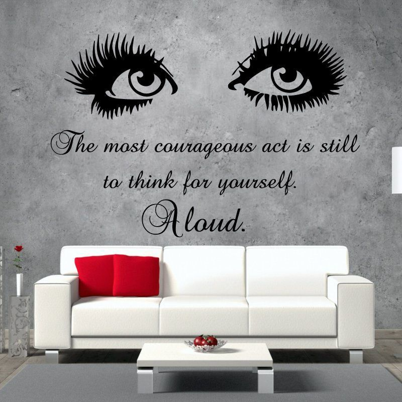 Eyes Wall Decals Quote The Most Art Vinyl Stickers Beauty Salon Home