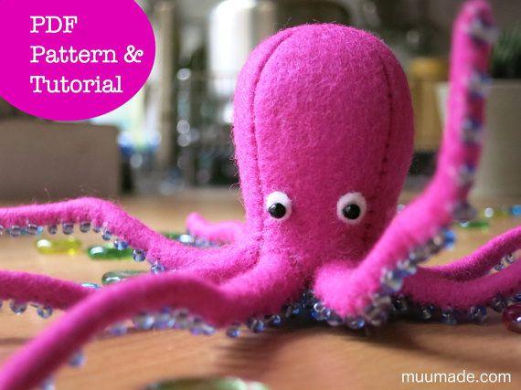 Octopus Sewing Pattern, Stuffed Animal Pattern, Handmade Gift, Decor ...