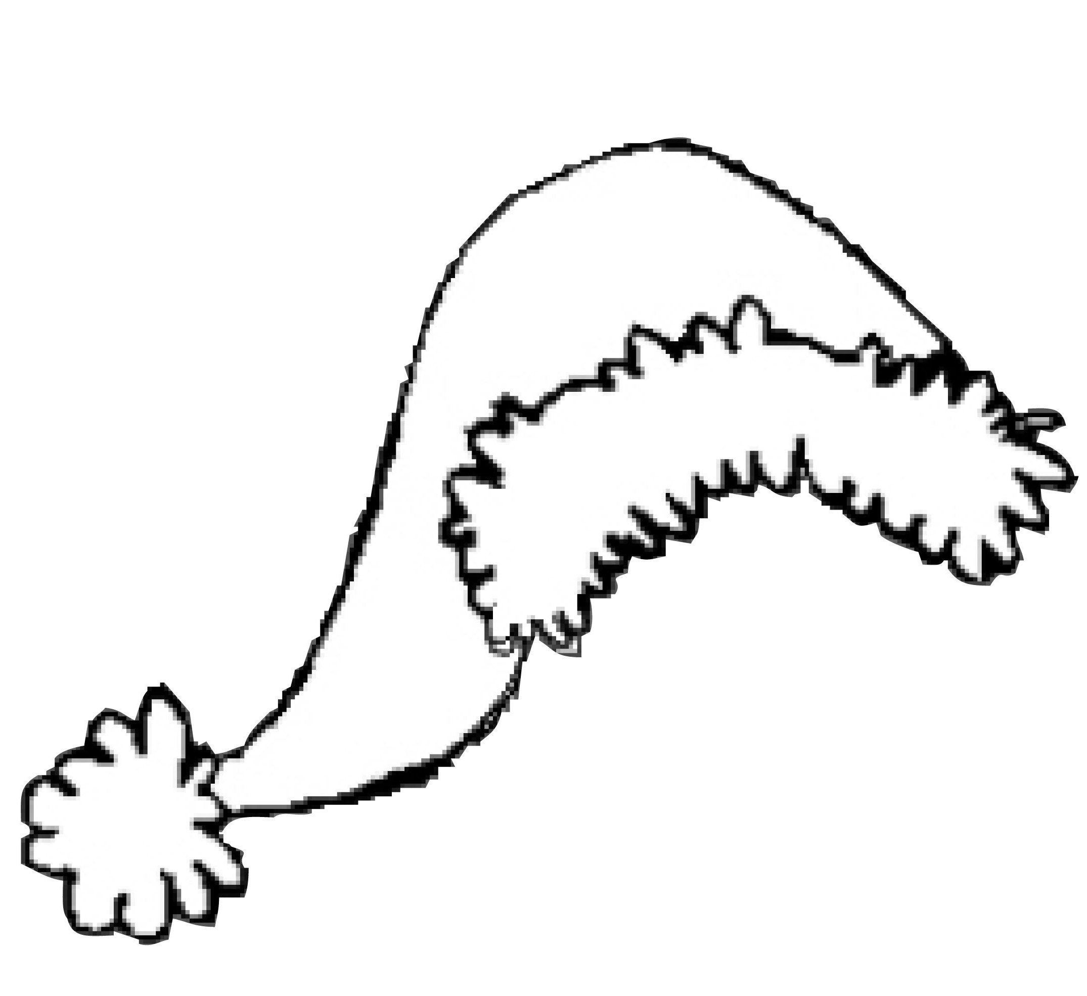 Santa Hat Christmas Hat That Is Long And Fascinating Coloring Pages ...