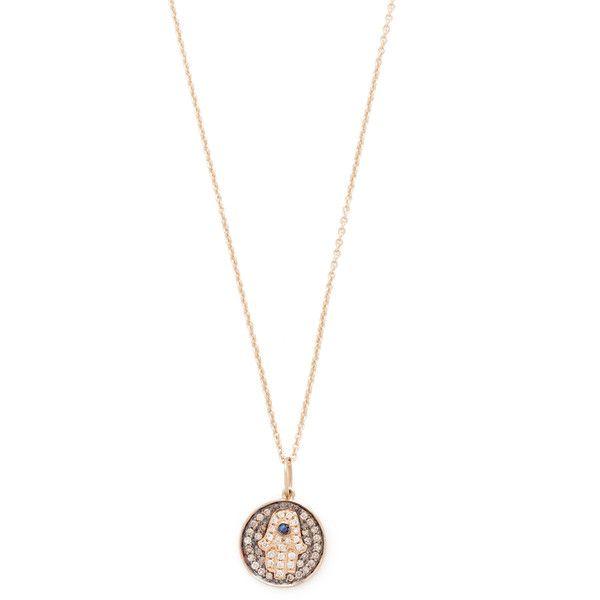 Sydney Evan Small Hamsa Medallion Charom Necklace WsO29cuOC