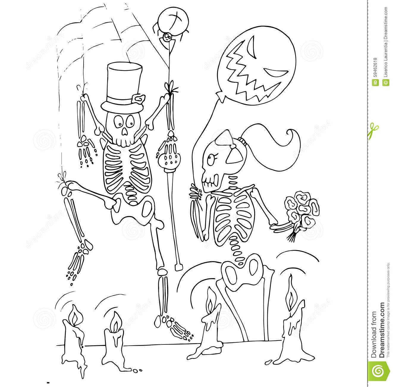 Coloring Hands Pages Skeleton