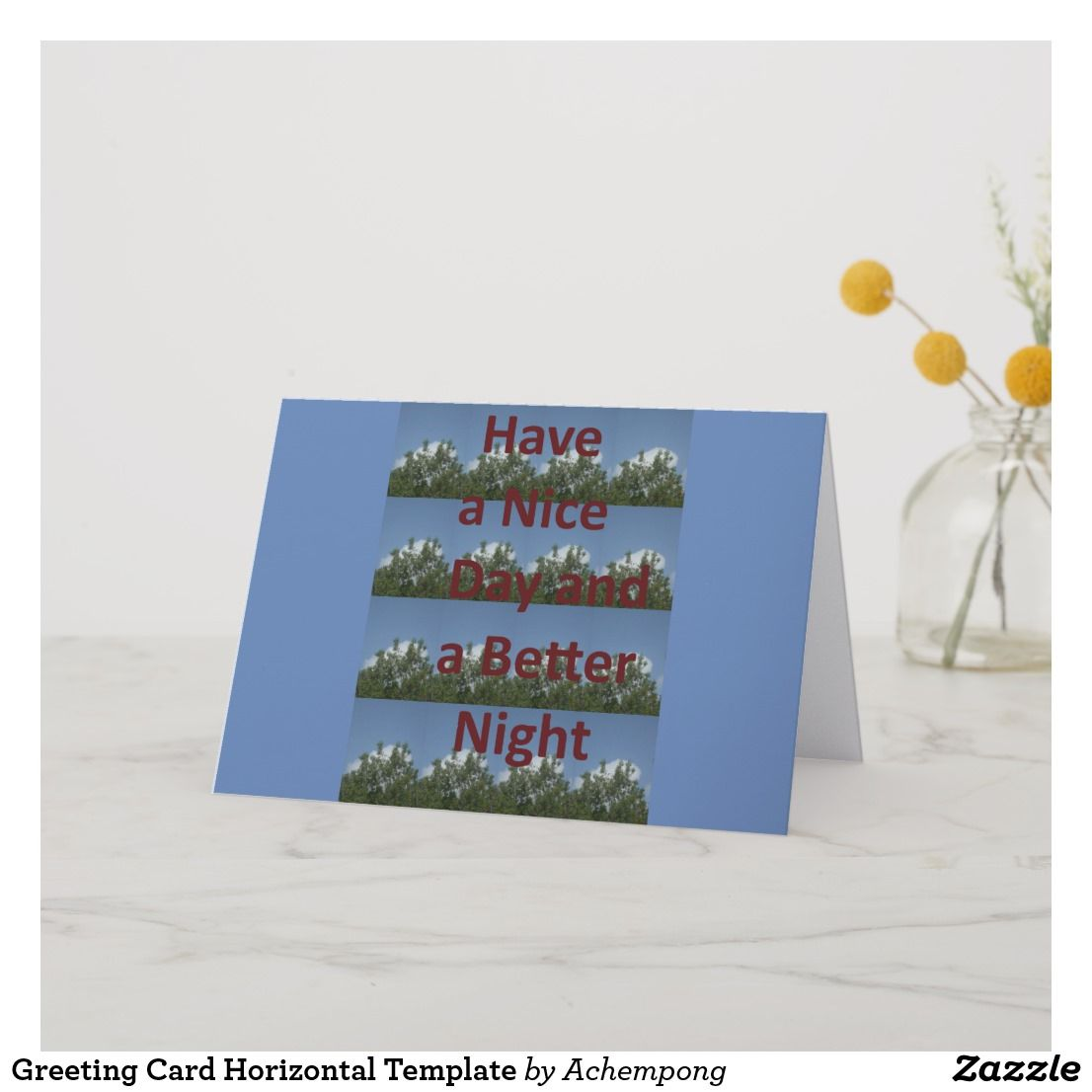 Greeting Card Horizontal Template Zazzle Com Greeting Cards