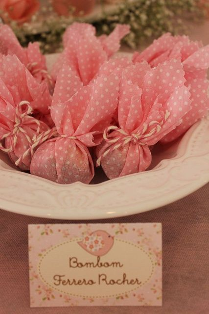 bombom embalado rosa