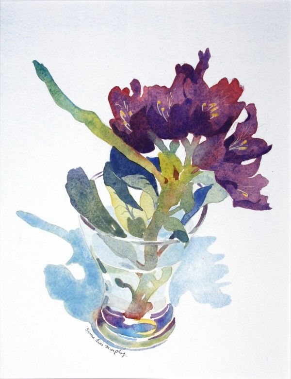 Purple Rhododendron By Susan Avis Murphy Art En 2019