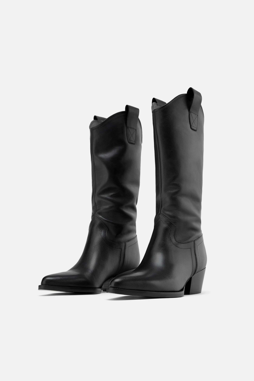 busca lo último lindos zapatos venta profesional Bota piel tacón cowboy | El look en 2019 | Botas cowboy ...