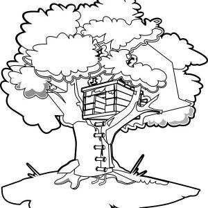 Treehouse Awesome Design Coloring Page Color Luna In 2020 Magic Treehouse House Colouring Pages Coloring Pages