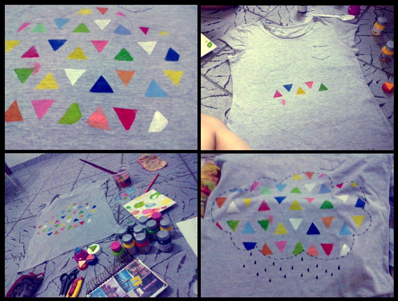 Customizando blusa com carimbo <3