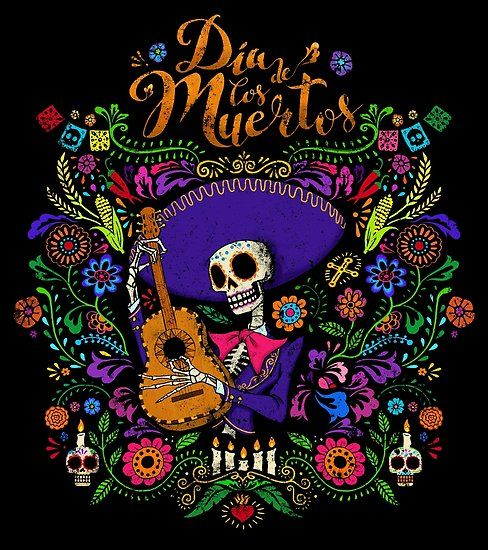 Poster Dia De Los Muertos De Vernaci Dibujo Dia De Muertos Dia De Los Fieles Difuntos Dia De Muertos