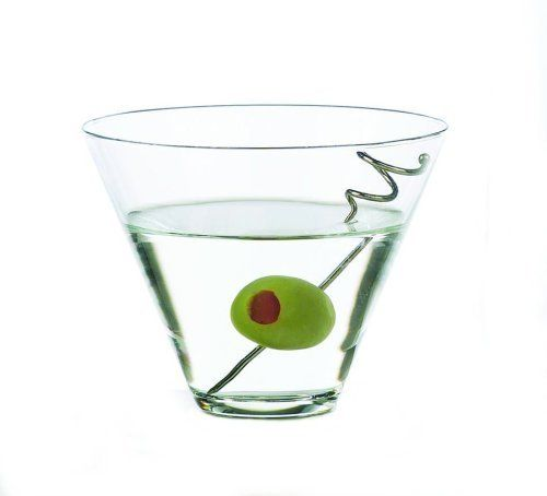 Libbey 13-1/2-Ounce Stemless Martini, Box of 12 by Libbey. $31.79. Safe to use in the dishwasher. Crafted of glass. This stemless martini glass features a 13-1/2-ounce capacity.  It's party of the popular Vina series.  Dishwasher safe.  Made in USA.