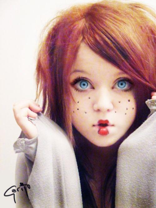 Doll Like By Aimeecupcake On Deviantart On We Heart It Doll Makeup Halloween Doll Makeup Costume Makeup