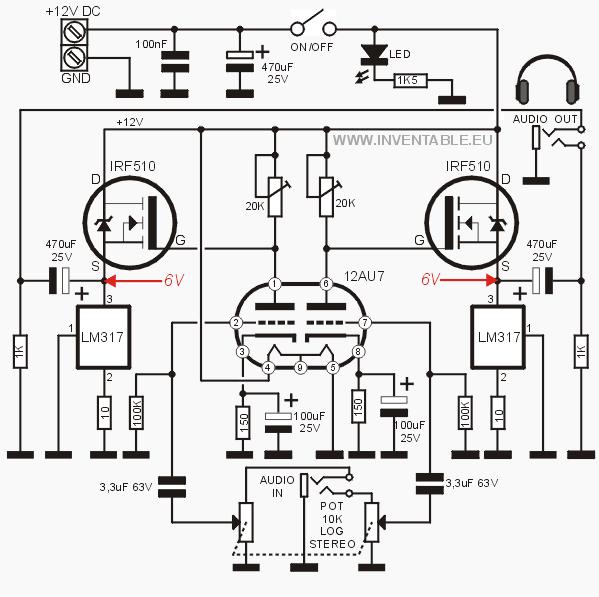 amplificador valvular para auriculares