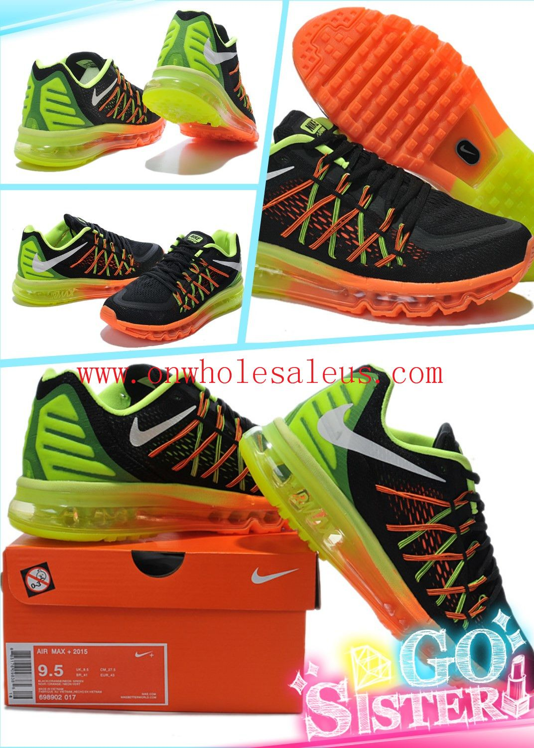 brand new 6ee82 c2f58 wholesale Cheap Nike Air Max 2015 Mens Orange black sneakers online  shopping  72 size 7-11