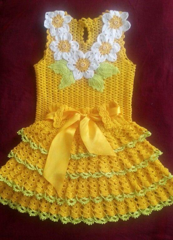 b81eecc8c Pin de Anticuchos El Pimienta en mis creaciones | Vestidos de crochê ...