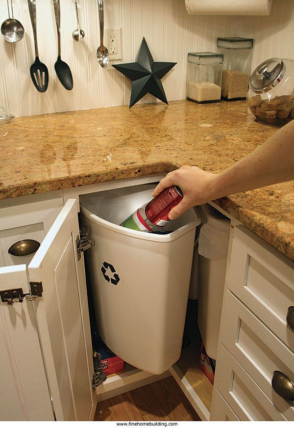 Snazzy solution for corner cabinets: A three-bin rotary ...