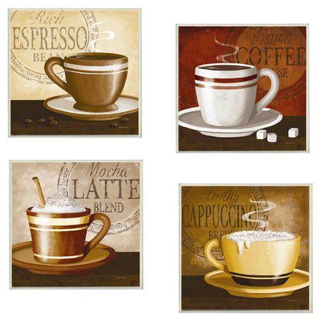 Found it at Wayfair - 4 Piece Espresso, Coffee, Latte, Cappuccino ...